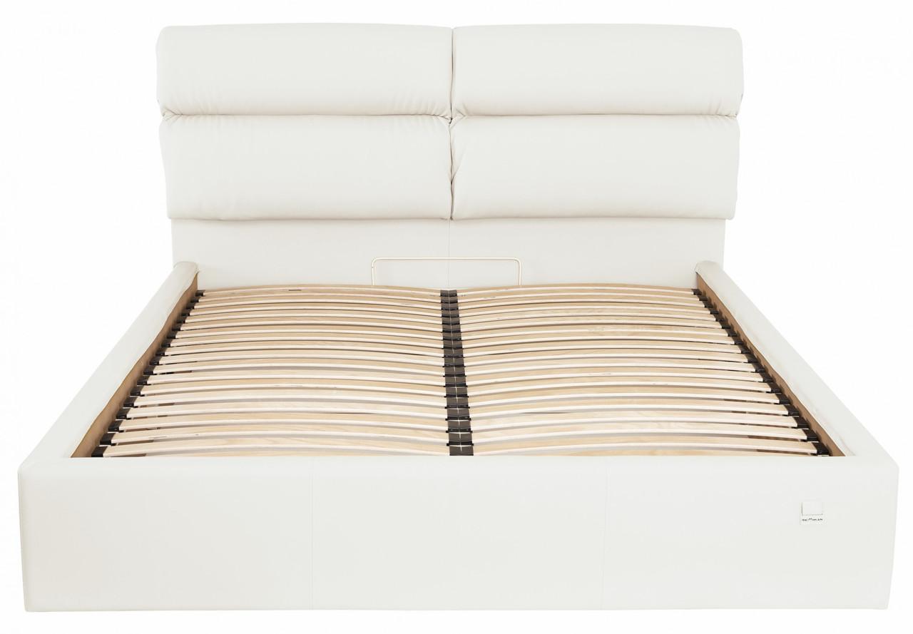Ліжко Двоспальне Richman Оксфорд VIP 180 х 190 см Флай 2200 З додаткової металевої суцільнозварний рамою Біла