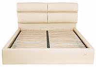 Кровать Двуспальная Richman Оксфорд VIP 180 х 190 см Флай 2207 С дополнительной металлической цельносварной рамой Бежевая