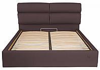Кровать Двуспальная Richman Оксфорд VIP 180 х 190 см Флай 2231 С дополнительной металлической цельносварной рамой Серая Темно-коричневая