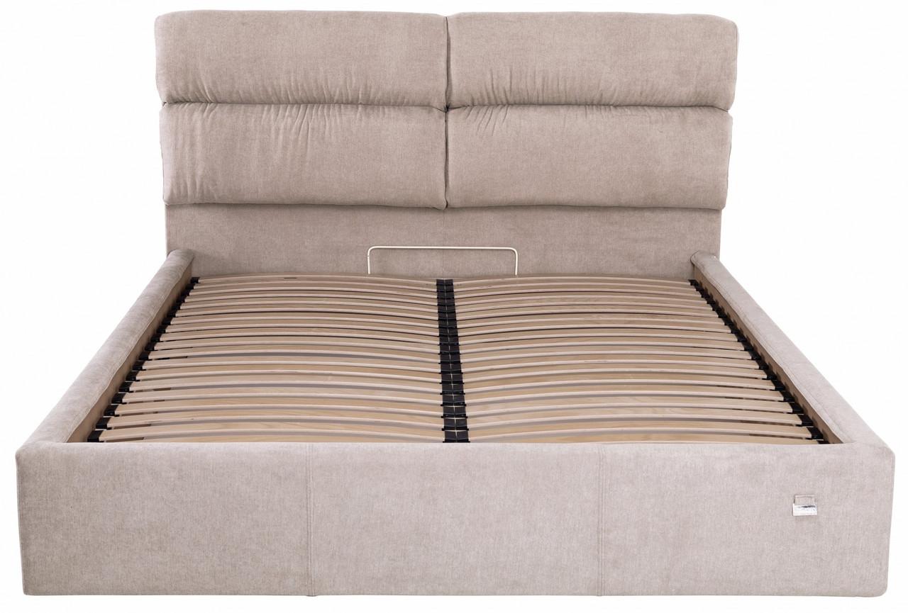 Кровать Двуспальная Richman Оксфорд VIP 180 х 200 см Мисти Mocco С дополнительной металлической цельносварной рамой Серая