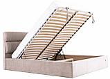 Кровать Двуспальная Richman Оксфорд VIP 180 х 200 см Мисти Mocco С дополнительной металлической цельносварной рамой Серая, фото 7