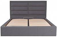 Кровать Двуспальная Richman Орландо VIP 160 х 190 см Мисти Dark Grey С дополнительной металлической цельносварной рамой Темно-серая