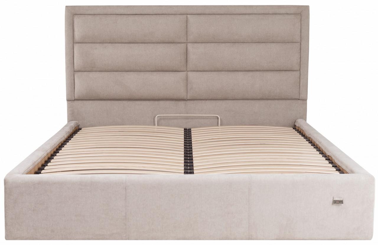 Кровать Двуспальная Orlando VIP 160 х 200 см Мисти Mocco С дополнительной металлической цельносварной рамой