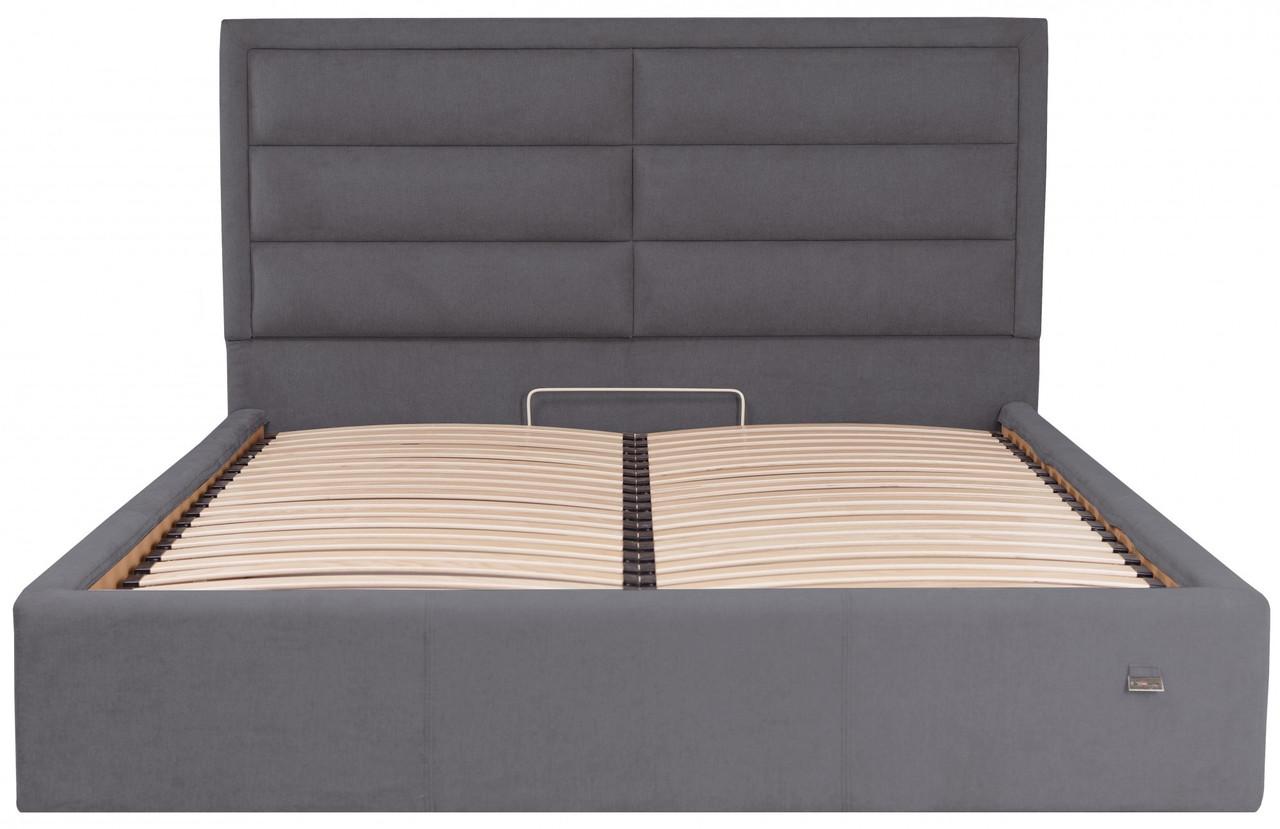 Ліжко Двоспальне Richman Орландо VIP 180 х 200 см Місті Dark Grey З додаткової металевої