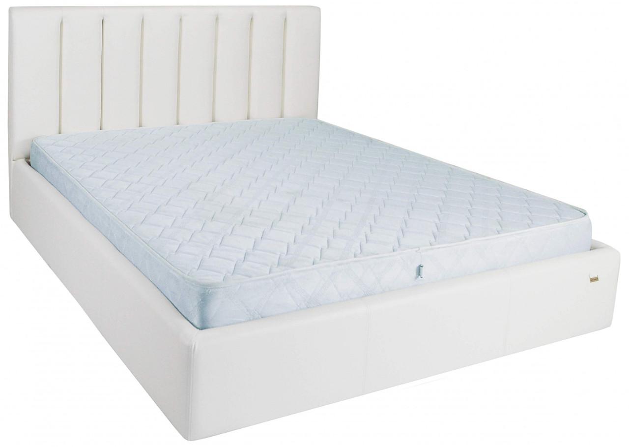 Кровать Двуспальная Sanam VIP 160 х 190 см Boom 01 С дополнительной металлической цельносварной рамой Белая