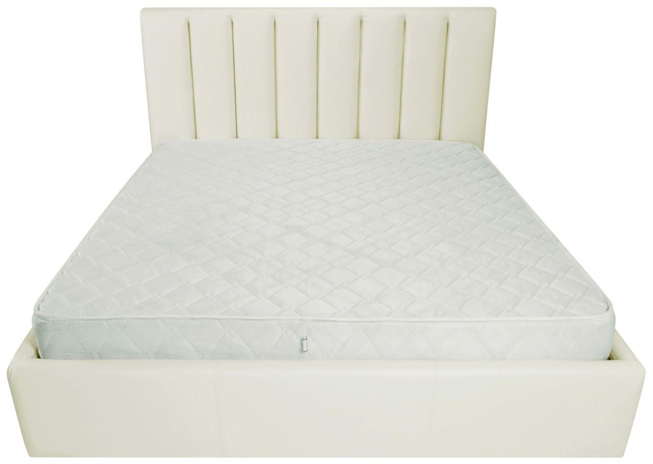 Ліжко Двоспальне Richman Санам VIP 160 х 200 см Флай 2200 A1 З додаткової металевої суцільнозварний рамою Біла