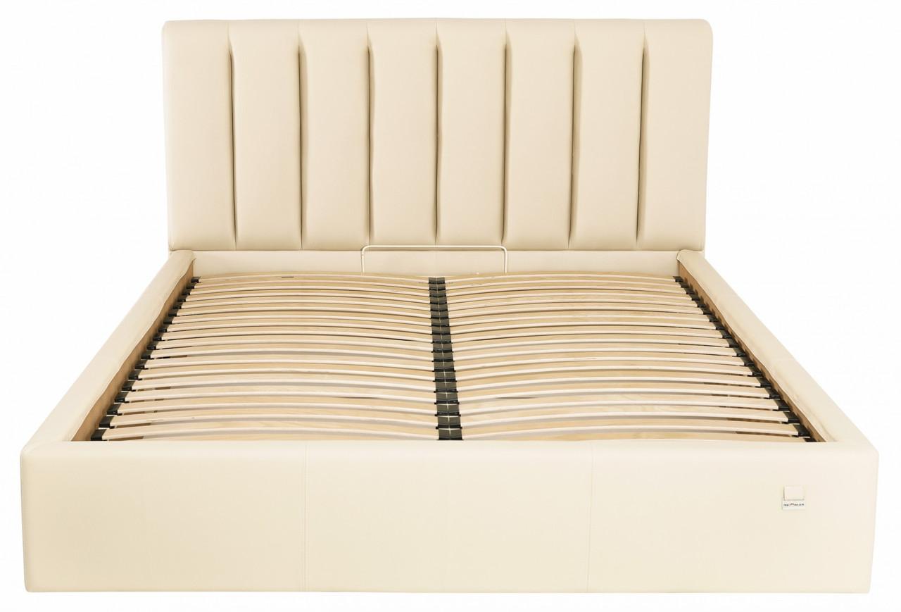 Ліжко Двоспальне Richman Санам VIP 160 х 200 см Флай 2207 З додаткової металевої суцільнозварний рамою Бежева
