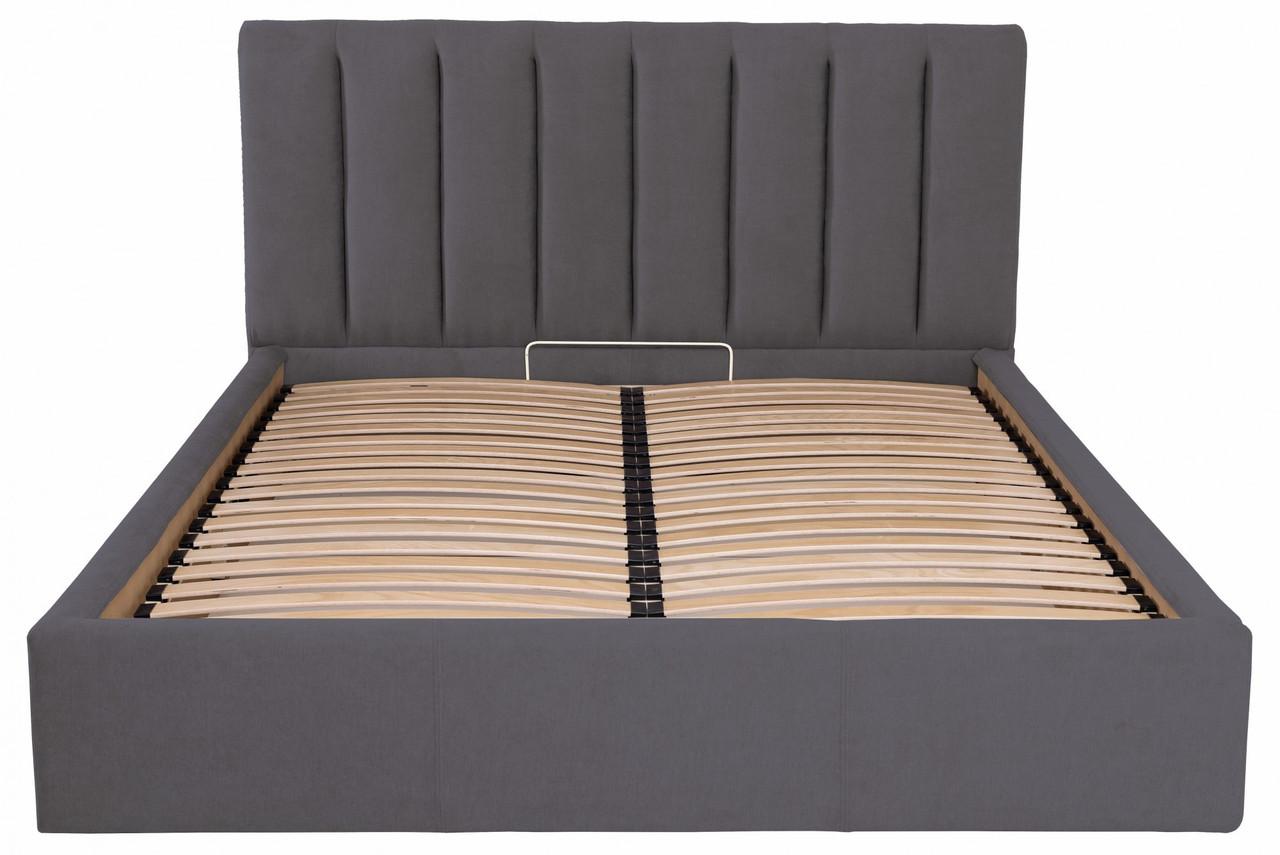 Кровать Двуспальная Richman Санам VIP 180 х 190 см Мисти Dark Grey С дополнительной металлической цельносварной рамой Темно-серая