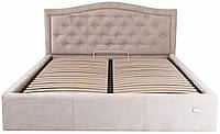 Кровать Двуспальная Richman Скарлетт VIP 180 х 200 см Мисти Mocco С дополнительной металлической цельносварной рамой Бежевая
