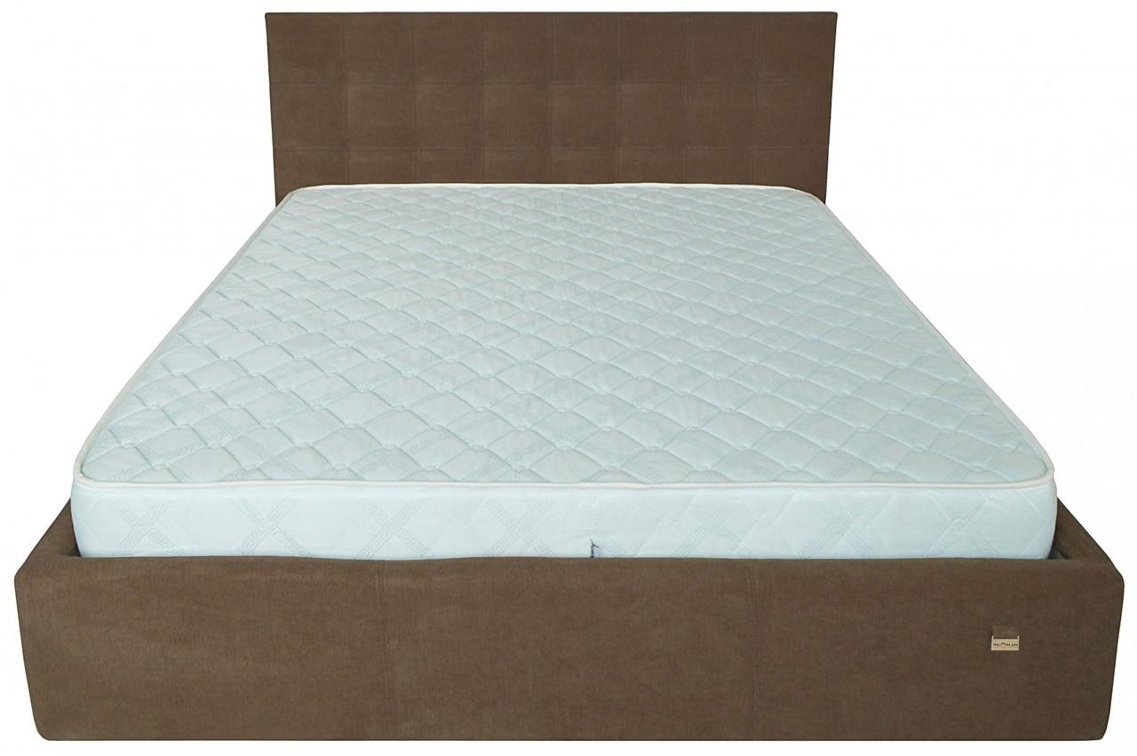 Кровать Двуспальная Chester VIP 160 х 190 см Мисти Brown С дополнительной металлической цельносварной рамой