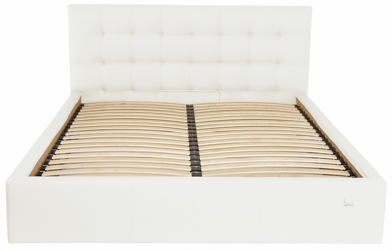 Кровать Двуспальная Chester VIP 160 х 190 см Fly 2200 С дополнительной металлической цельносварной рамой Белая