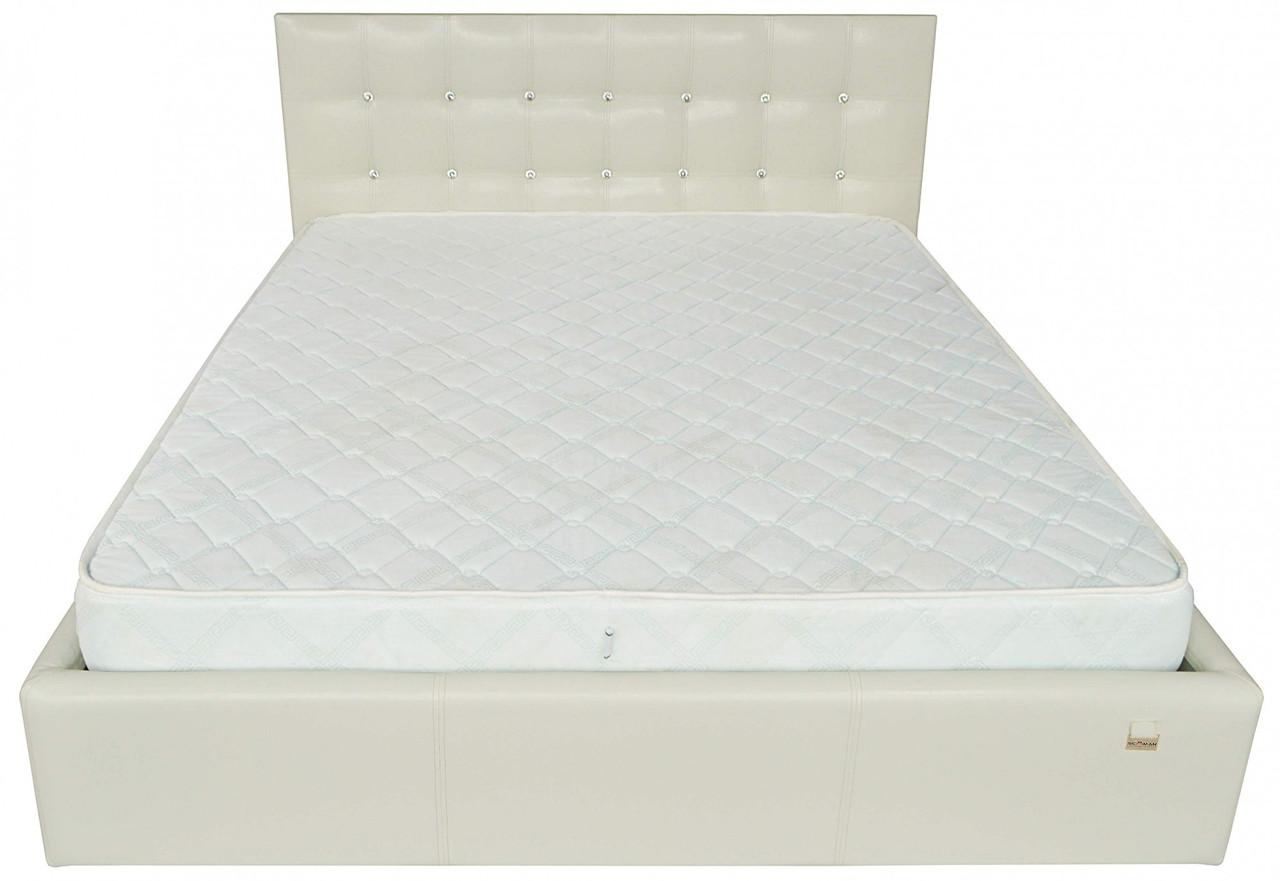 Кровать Двуспальная Richman Честер VIP 160 х 200 см Кинг 400 С дополнительной металлической цельносварной рамой C1 Белая