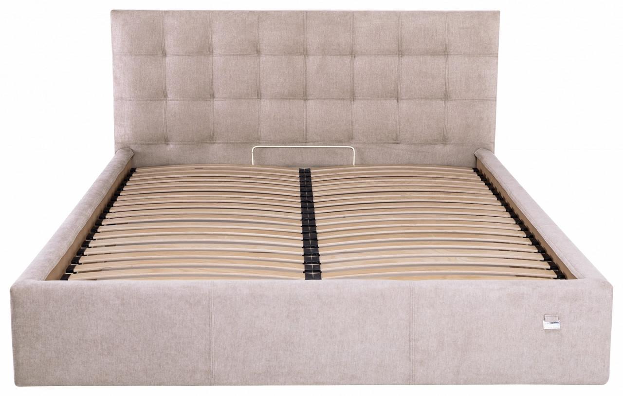 Кровать Двуспальная Richman Честер VIP 160 х 200 см Мисти Mocco С дополнительной металлической цельносварной