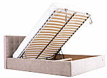 Кровать Двуспальная Richman Честер VIP 160 х 200 см Мисти Mocco С дополнительной металлической цельносварной, фото 7