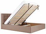 Кровать Двуспальная Richman Честер VIP 180 х 190 см Флай 2213 С дополнительной металлической цельносварной рамой Светло-коричневая, фото 7