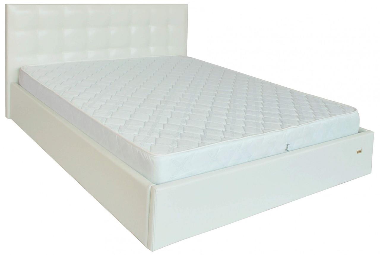 Ліжко Двоспальне Richman Честер VIP 180 х 200 см Лаки White З додаткової металевої суцільнозварний