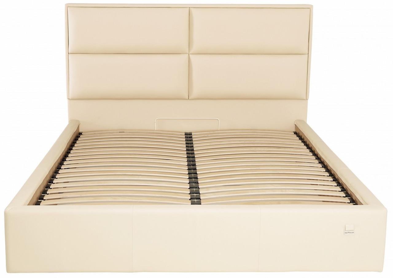 Ліжко Двоспальне Richman Шеффілд VIP 180 х 190 см Флай 2207 З додаткової металевої суцільнозварний рамою