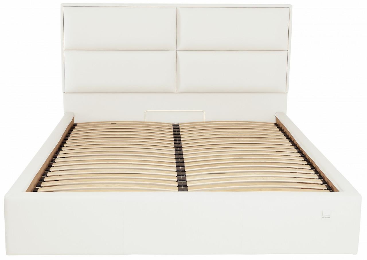 Ліжко Двоспальне Richman Шеффілд VIP 180 х 200 см Флай 2200 З додаткової металевої суцільнозварний рамою Біла