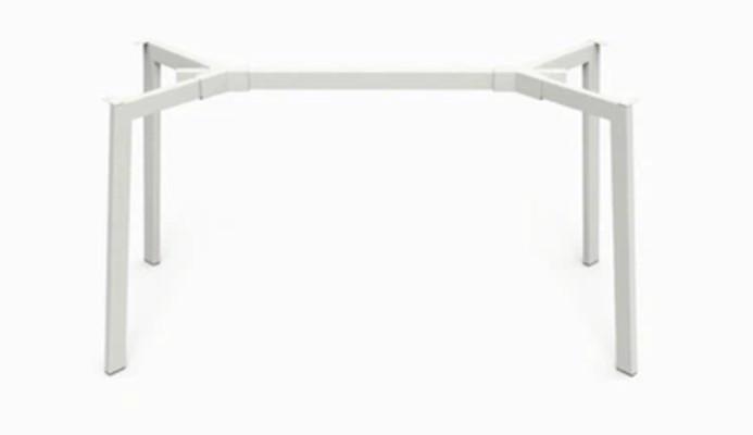 База к обеденному столу Richman Jeans под столешницы 1220 -1800 мм Белая