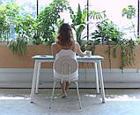 База к обеденному столу Richman Jeans под столешницы 1220 -1800 мм Белая, фото 4
