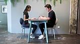 База к обеденному столу Richman Jeans под столешницы 1220 -1800 мм Белая, фото 6