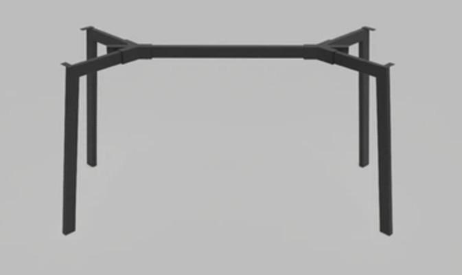 База к обеденному столу Jeans под столешницы 1220 -1800 мм Черная