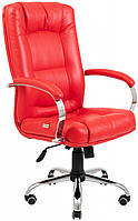 Офисное Кресло Руководителя Richman Альберто Boom 16 Хром М2 AnyFix Красное