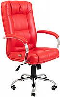 Офисное Кресло Руководителя Richman Альберто Boom 16 Хром М3 MultiBlock Красное
