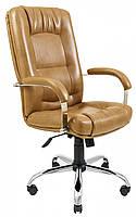 Офисное Кресло Руководителя Richman Альберто Титан Cream Хром М2 AnyFix Светло-коричневое