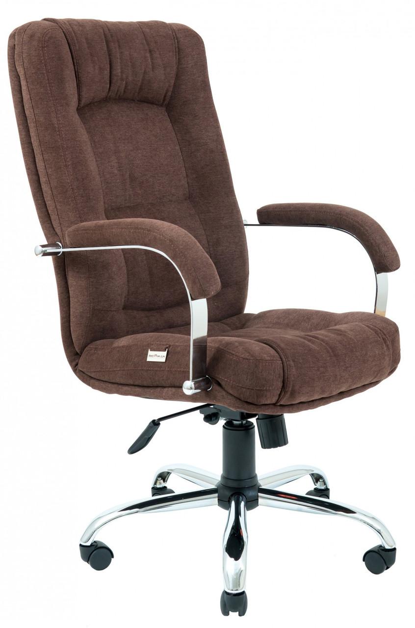 Офисное Кресло Руководителя Richman Альберто Кордрой 472 Хром М1 Tilt Коричневое