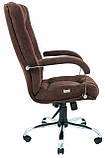 Офисное Кресло Руководителя Richman Альберто Кордрой 472 Хром М1 Tilt Коричневое, фото 3