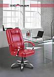 Офисное Кресло Руководителя Richman Альберто Кордрой 472 Хром М1 Tilt Коричневое, фото 4