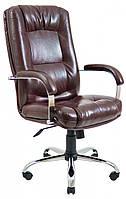 Офисное Кресло Руководителя Richman Альберто Титан Firenze Хром М1 Tilt Коричневое