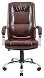 Офисное Кресло Руководителя Richman Альберто Титан Firenze Хром М2 AnyFix Коричневое, фото 2