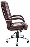 Офисное Кресло Руководителя Richman Альберто Титан Firenze Хром М2 AnyFix Коричневое, фото 3
