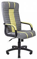 Офисное Кресло Руководителя Richman Атлант Лорд 21-14 Подлокотник Рич Пластик М2 AnyFix Желто-серое