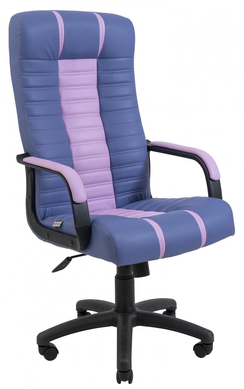 Офисное Кресло Руководителя Richman Атлант Kansas Lavender-Lilac Подлокотник Рич Пластик М3 MultiBlock