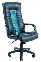 Офисное Кресло Руководителя Richman Атлант Skaden Подлокотник Рич Пластик М2 AnyFix Черно-зеленое