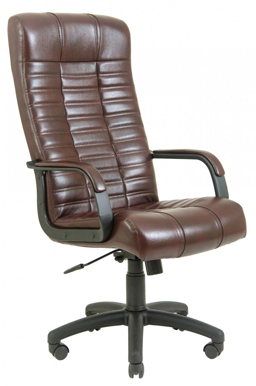 Офисное Кресло Руководителя Richman Атлант Титан Firenze Подлокотник Рич Пластик М2 AnyFix Коричневое