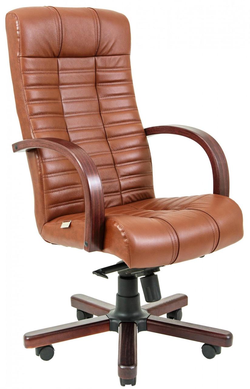 Офисное Кресло Руководителя Atlant Мадрас Whisky Вуд Вишня М1 Tilt Коричневое