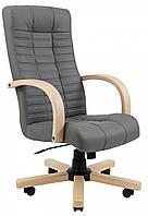Офисное Кресло Руководителя Richman Атлант Флай 2243 Вуд Бук М3 MultiBlock Серое