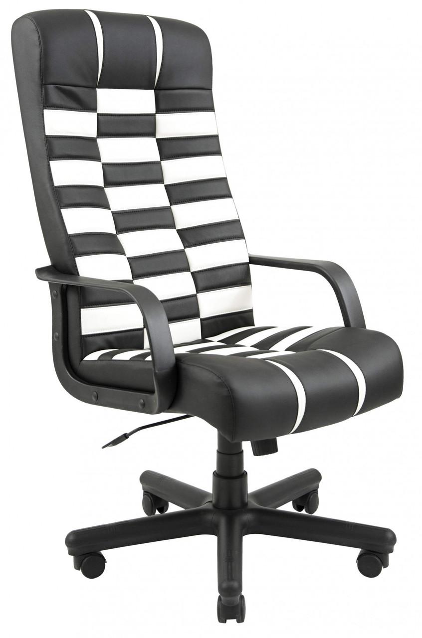 Офісне Крісло Керівника Richman Атлант Флай 2300-2230 Пластик М2 AnyFix Чорно-біле