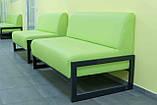 Диван Richman Квадро Двойка 1400 x 650 x 750H см Флай 2234 Зеленый, фото 5
