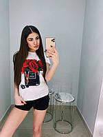 Женский летний костюм футболка и шорты, фото 1