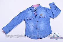 Рубашка  для мальчика  (цв.синий) 100проц. cotton  ORIGNAL 7713 Рост:98,104