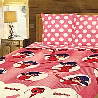 """""""Леди Баг"""" полуторное постельное белье с детским рисунком, Тирасполь, Tirotex, 100% хлопок"""