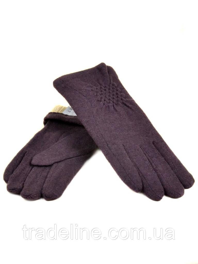PODIUM Перчатка Женская кашемир (ПЛ)д F12 мод1 баклажан Распродажа