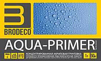 """Концентрированная акриловая грунтовка глубокого проникновения Brodeco """"Aqua-primer"""" 1 л."""