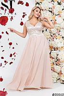 Вечернее шифоновое платье в пол больших размеров 48 50 52 54