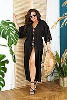 """Пляжный женский комплект """"PARMA"""" купальник и туника с кружевом (большие размеры)"""